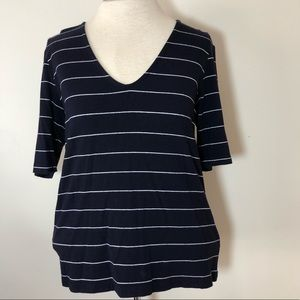 Womens Ralph Lauren Stretch Knit top shirt Large